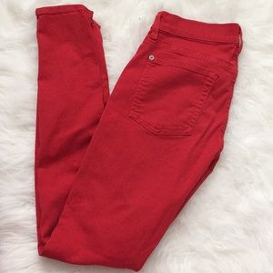 7 For All Mankind Jeans - 7 for all mankind red jeans